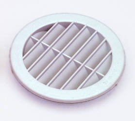 100mm round louvred vent