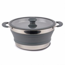 Collapsible saucepan 3L grey