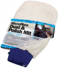 Microfibre dust & polish mitt