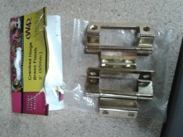 Cranked Flush Hinge Brass