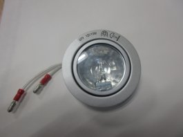 12V 10w RECESSED LIGHT CLEAR GLASS SILVE