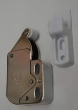 SPRING LOCK MINI LATCH WITH WHITE HOOK