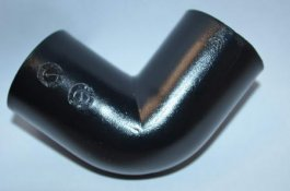 90 ELBOW 28MM BLACK WASTE