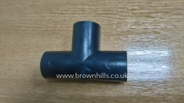 WASTE WATER T PIECE 28mm BLACK