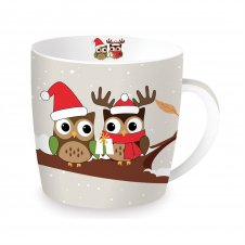 Christmas mugs in tin