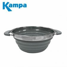 Collapsible grey colander