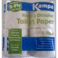 Rapid dissolve toilet roll