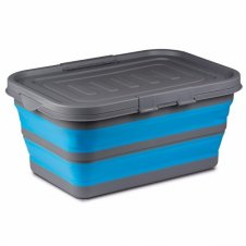 Collapsible storage box blue