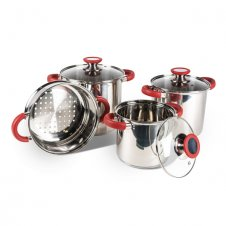 Space saver deluxe saucepan set